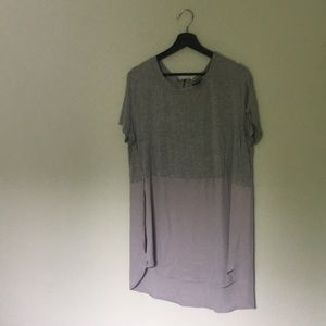 Mossimo Mixed Media Gray Top